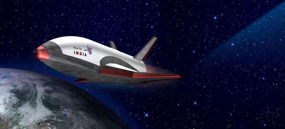 Indien har skjutit upp en liten rymdfärja till rymden