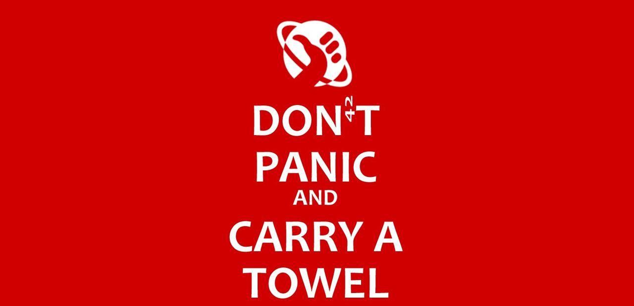 Tut i luren - idag är det Towel Day!