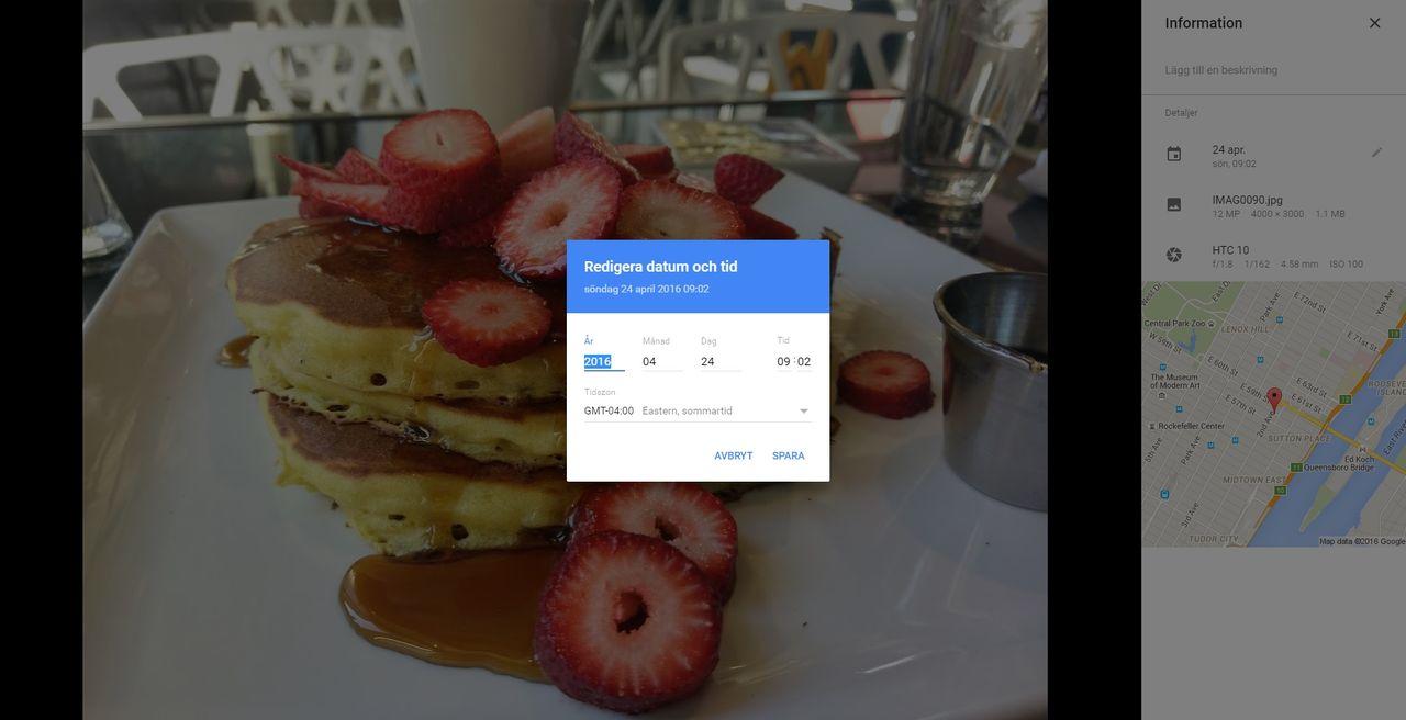 Ändra datum på bilder i Google Photos