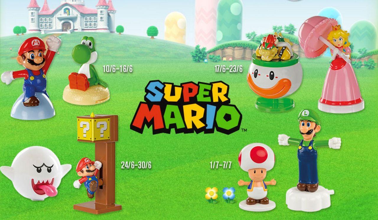 Nu får man Mario-leksaker i sitt Happy Meal