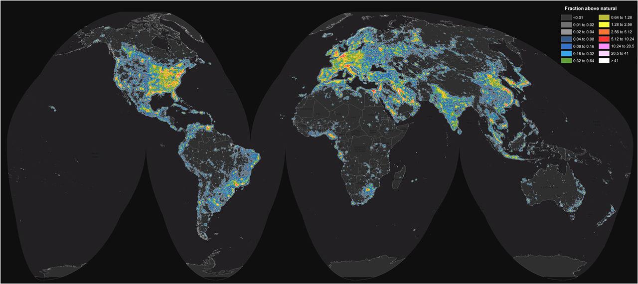 En tredjedel av världen kan inte se Vintergatan längre