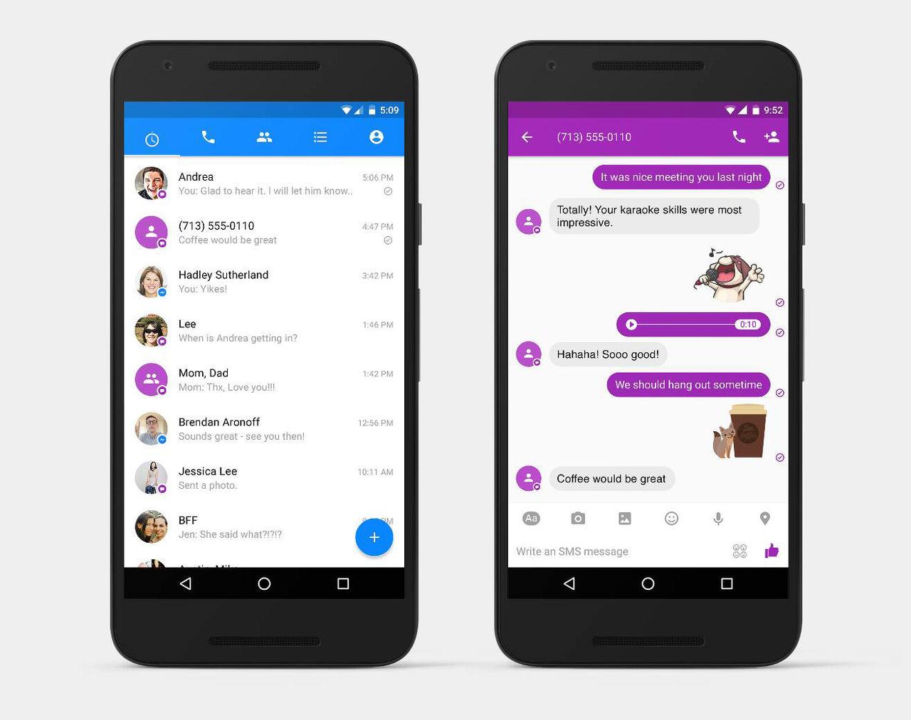 Nu kan man ersätta SMS-appen med Facebook Messenger