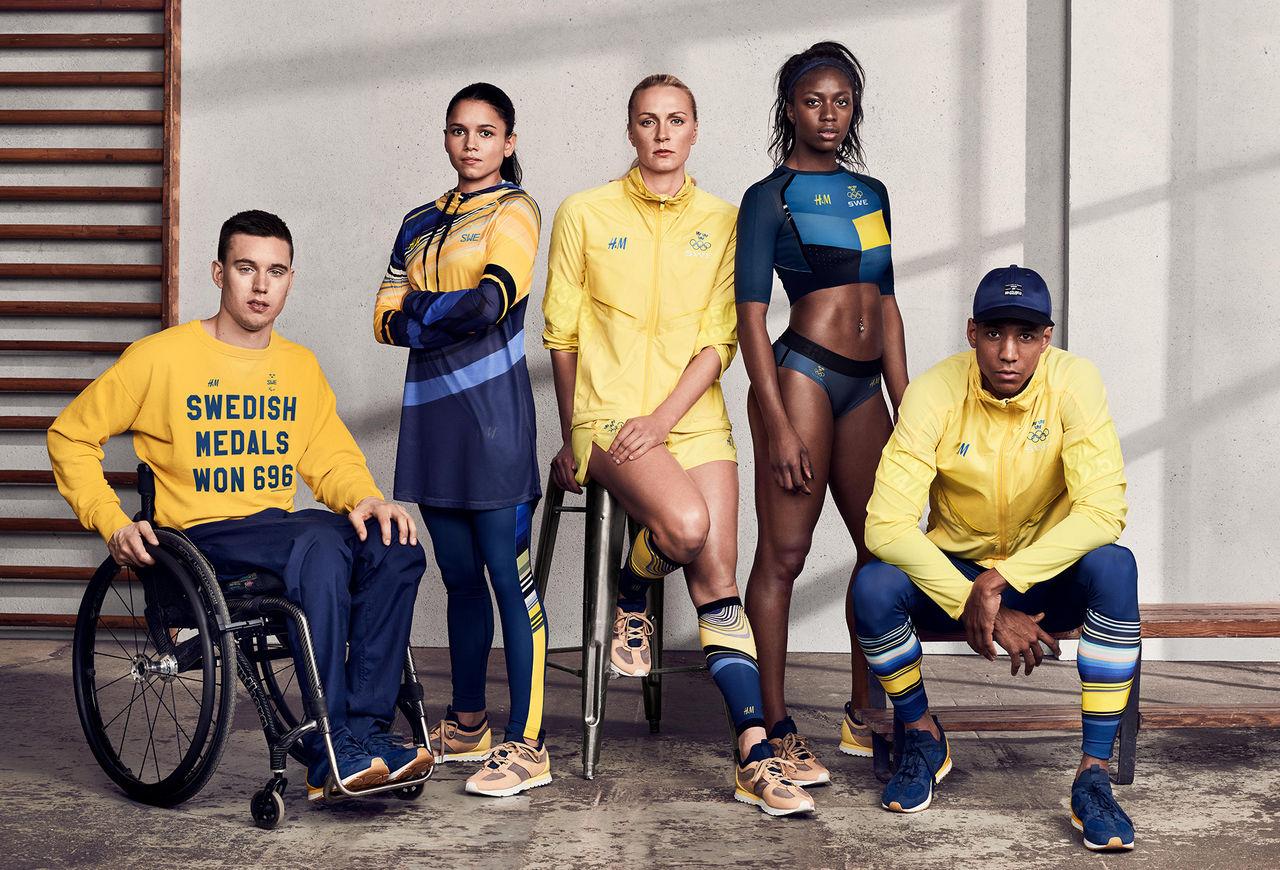 H&M:s kollektion tillsammans med OS-truppen