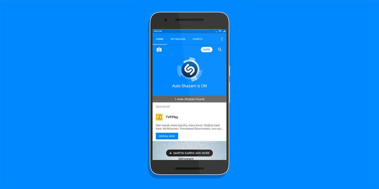 Shazam för Android får smidiga funktionen Auto Shazam