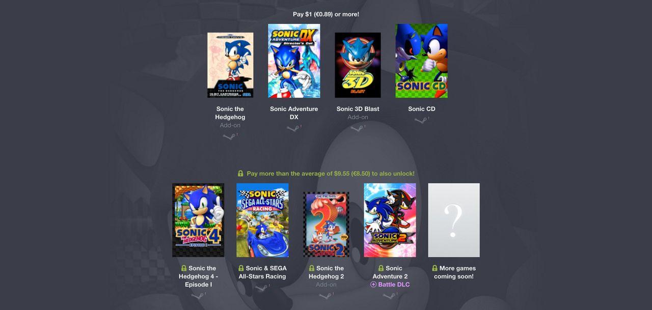 Humble Bundle med Sonic the Hedgehog-spel