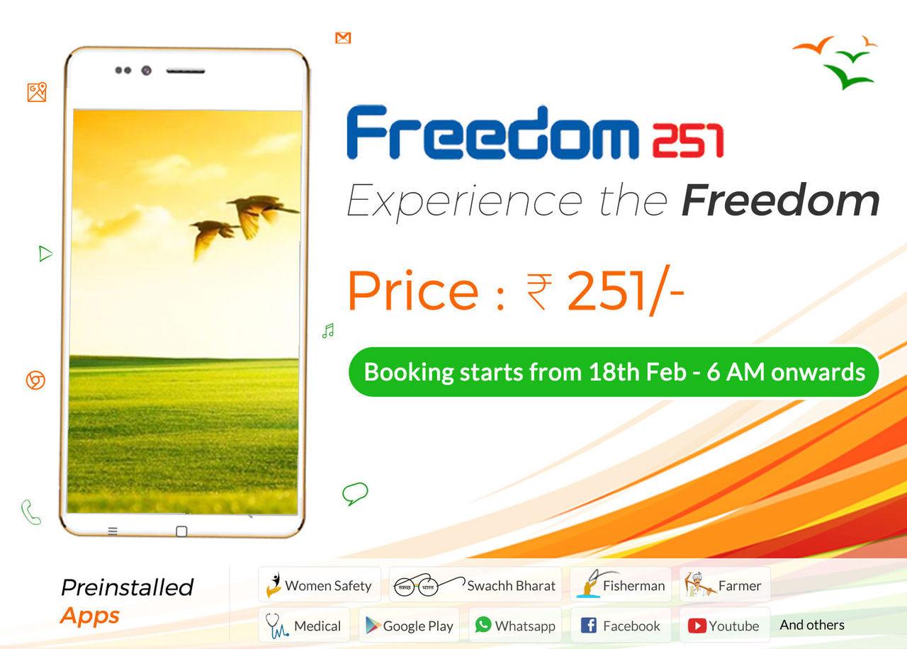 Freedom 251 släpps 30 juni