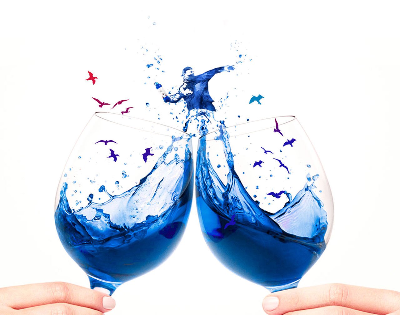 Får det lov att vara lite blått vin?