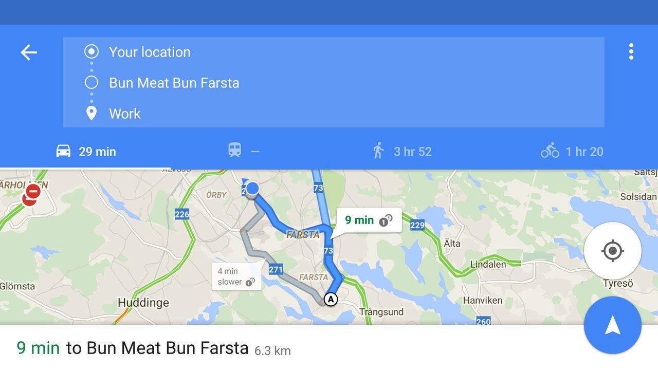 Google Maps-appen låter dig nu välja fler destinationer
