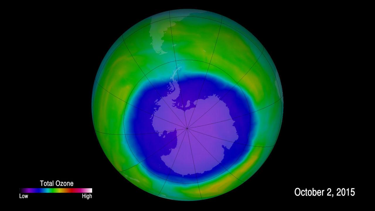 Ozonlagret håller på att läkas ihop