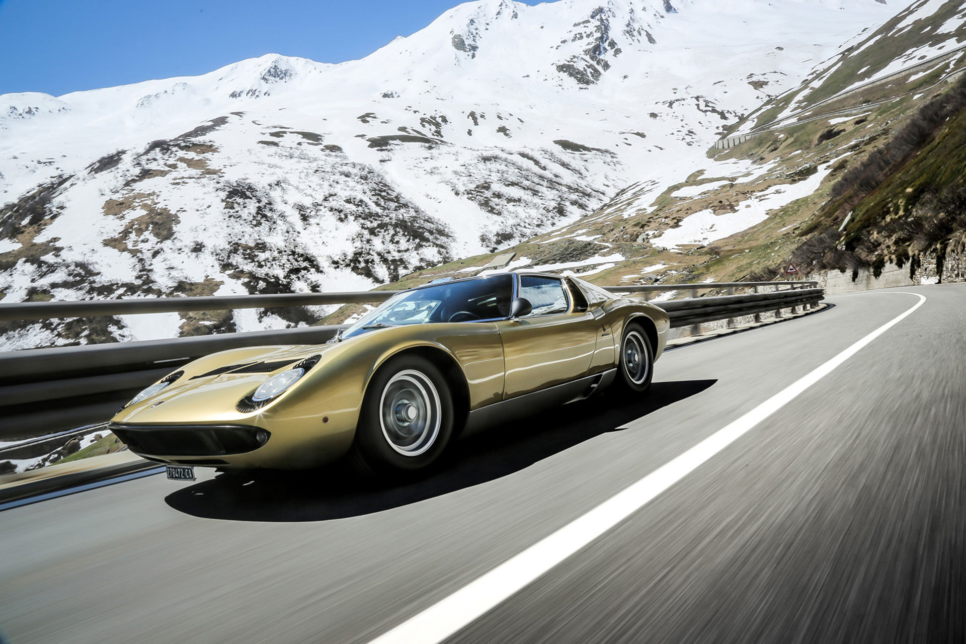Lamborghini återskapar The Italian Job-scenen