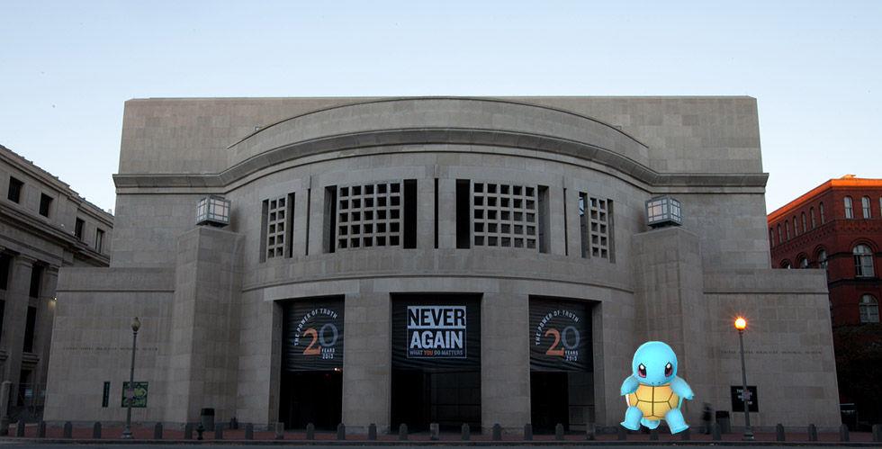 Pokemon Go-spelare inte populära på förintelsemuseum