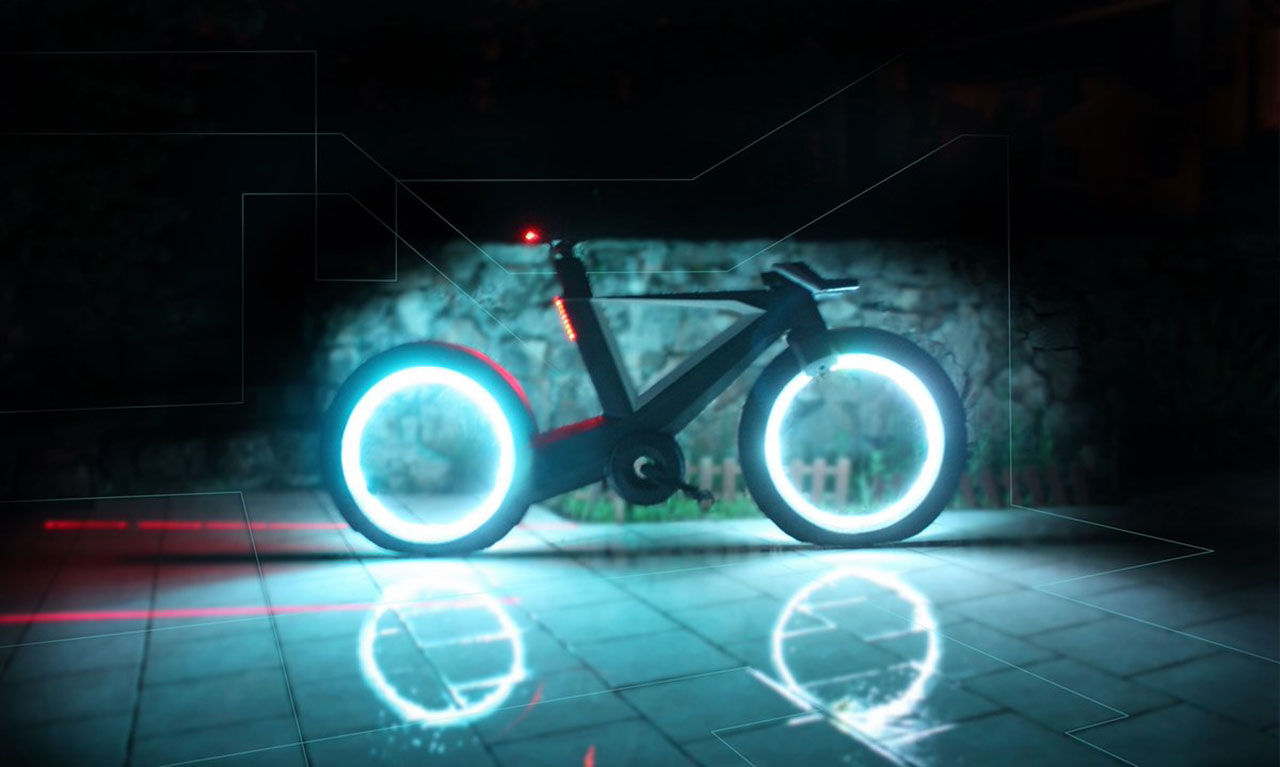 Ekerlös cykel med Tron-känsla