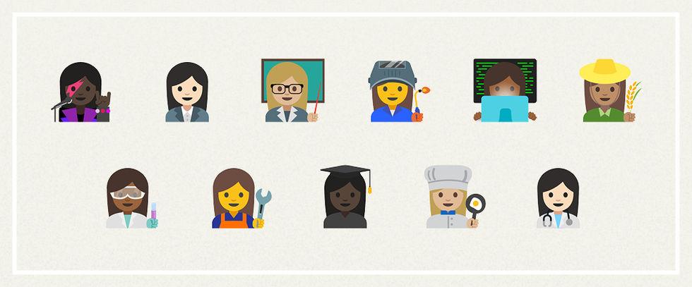 Googles emojis för yrken godkända