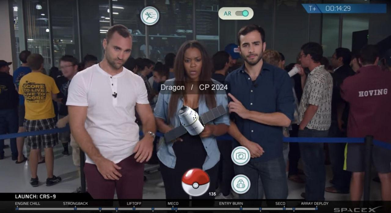 SpaceX drog ett Pokemon-skämt under livesändningen av CRS-9