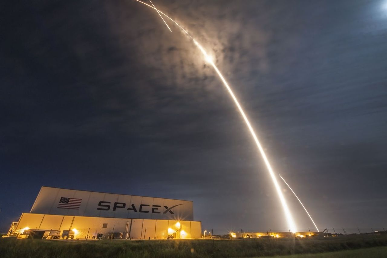 Bilder från senaste Falcon 9-uppskjutet