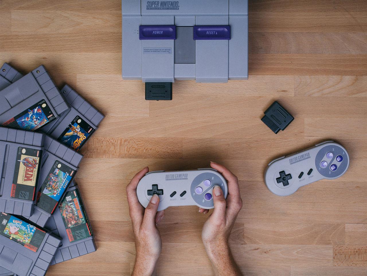 Spela Super Nintendo med DualShock 4