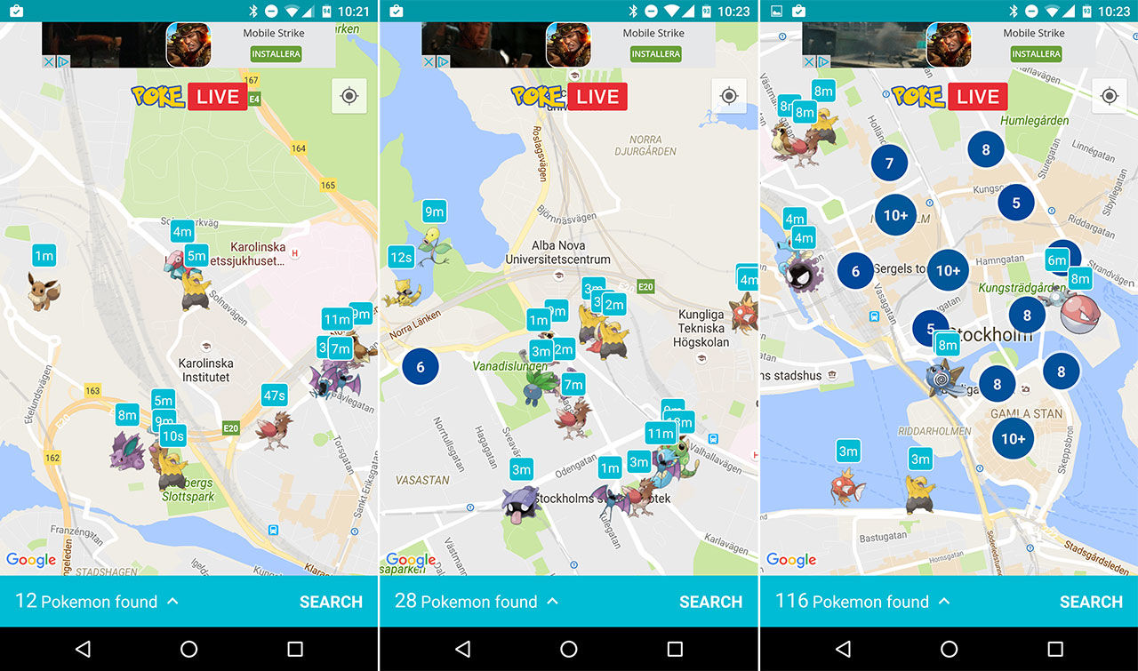 hitta karta se Hitta Pokémons med Poké Live. Kolla in var de finns på en karta  hitta karta se