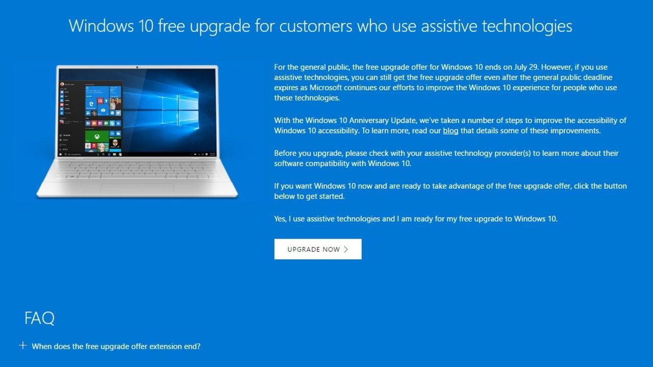 Du kan fortfarande uppdatera till Windows 10 gratis