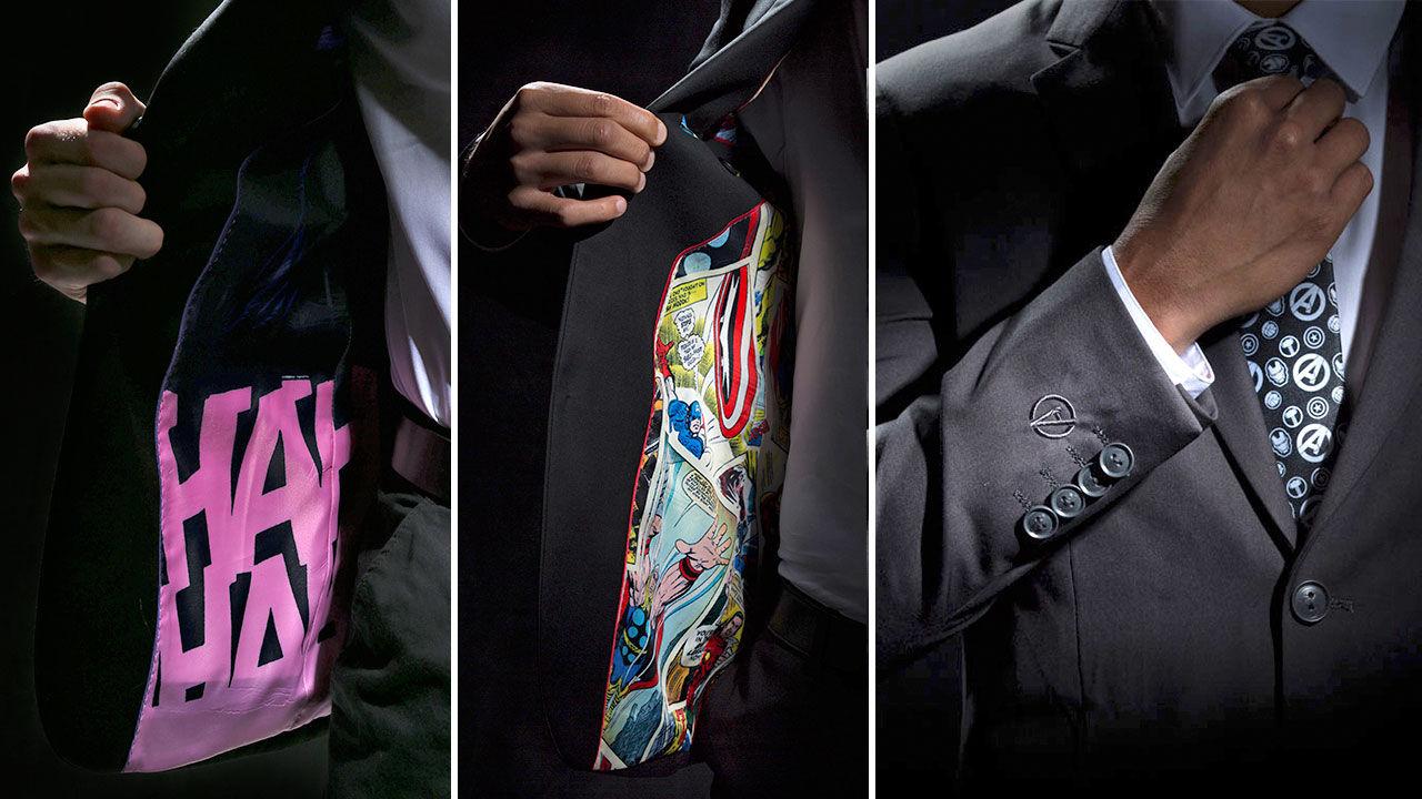 Stiliga kostymer med Marvel och DC-tema