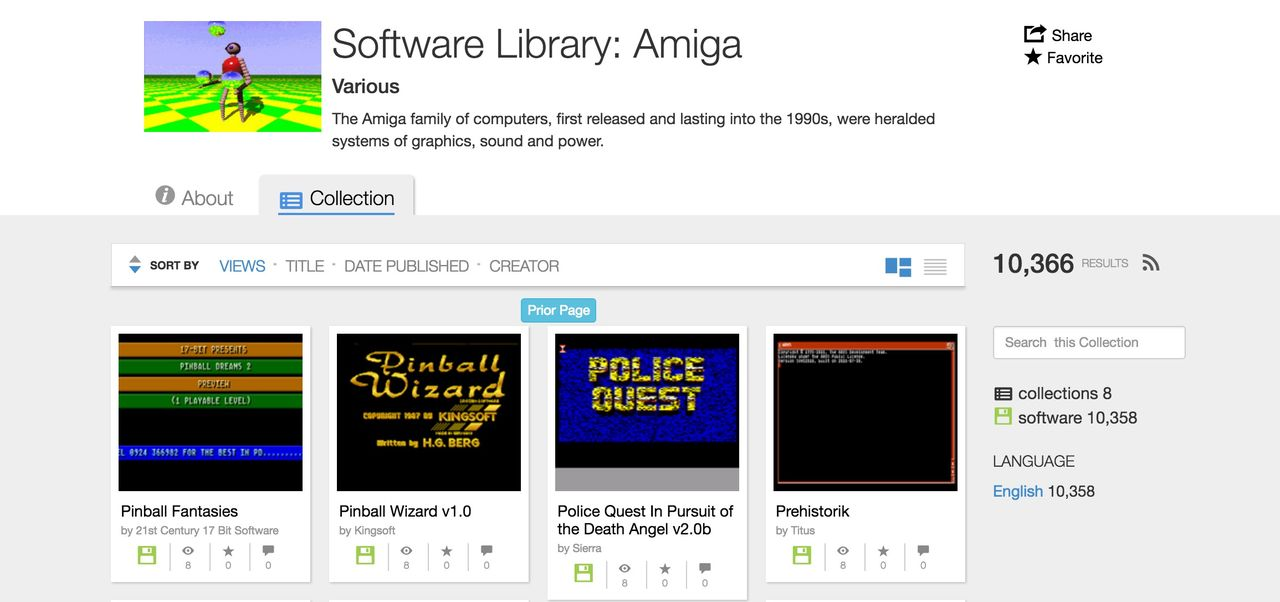 Internet Archive har fått massvis med Amiga-mjukvara