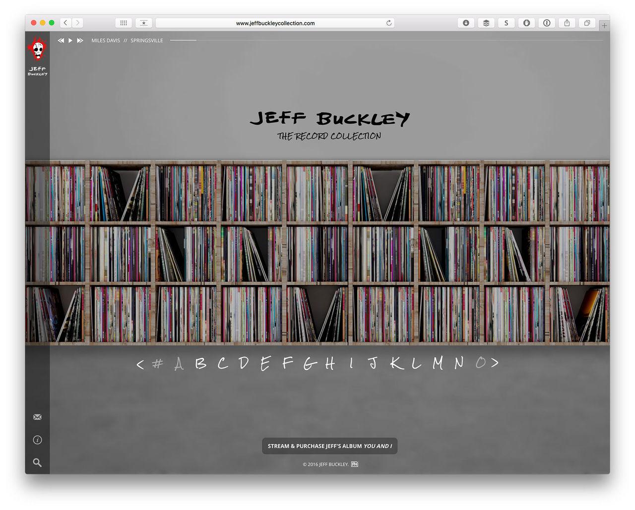 Bläddra i Jeff Buckleys skivsamling