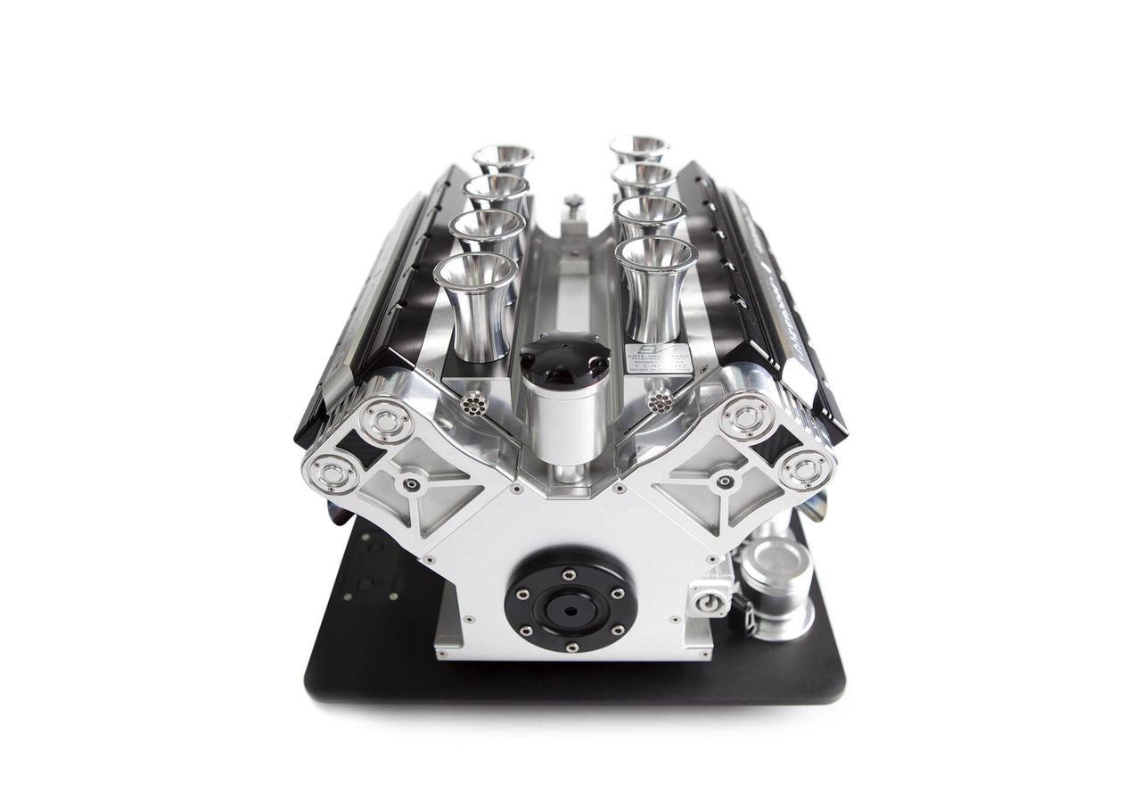 Espressobryggare i form av en motor