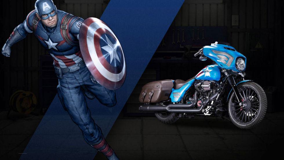 Harley-Davidson gör specialmodeller åt Marvel
