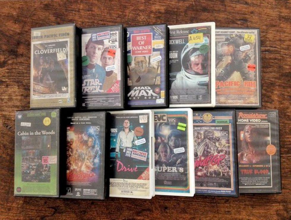 VHS-omslag för moderna filmer