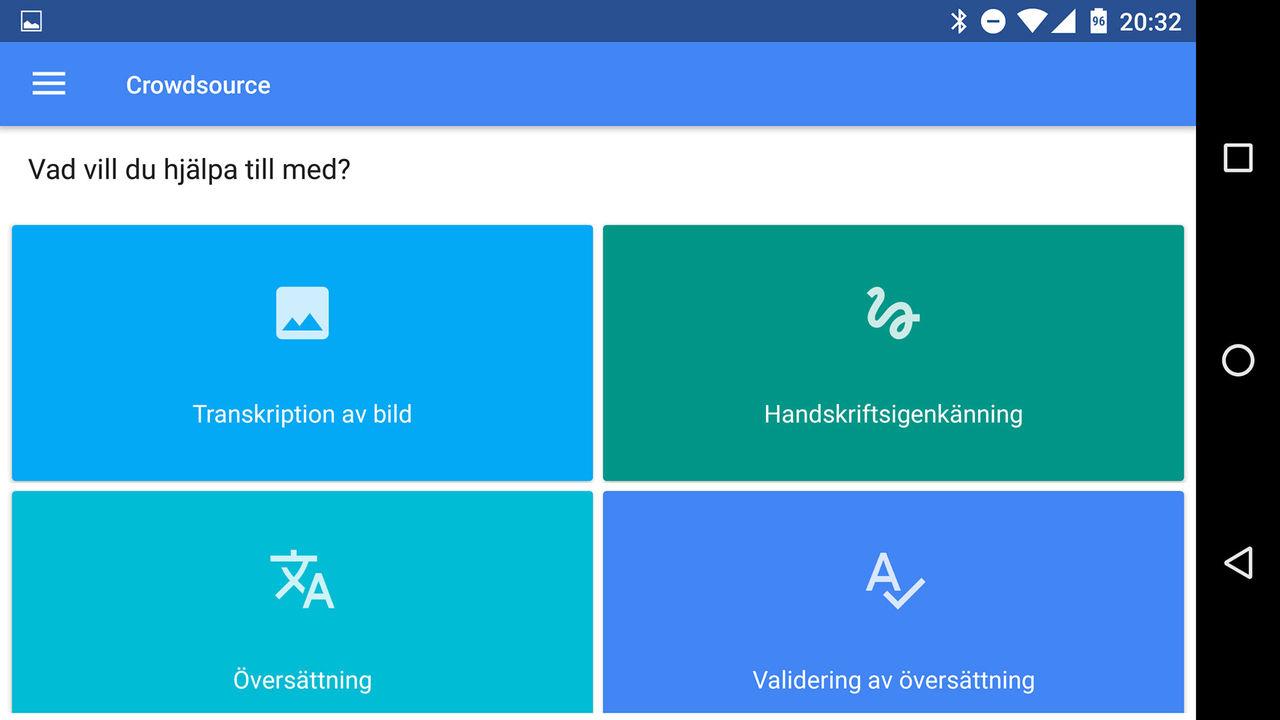 Hjälp Google med översättningar och annat med appen Crowdsource