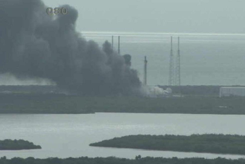 En av SpaceX Falcon 9-raketer har exploderat