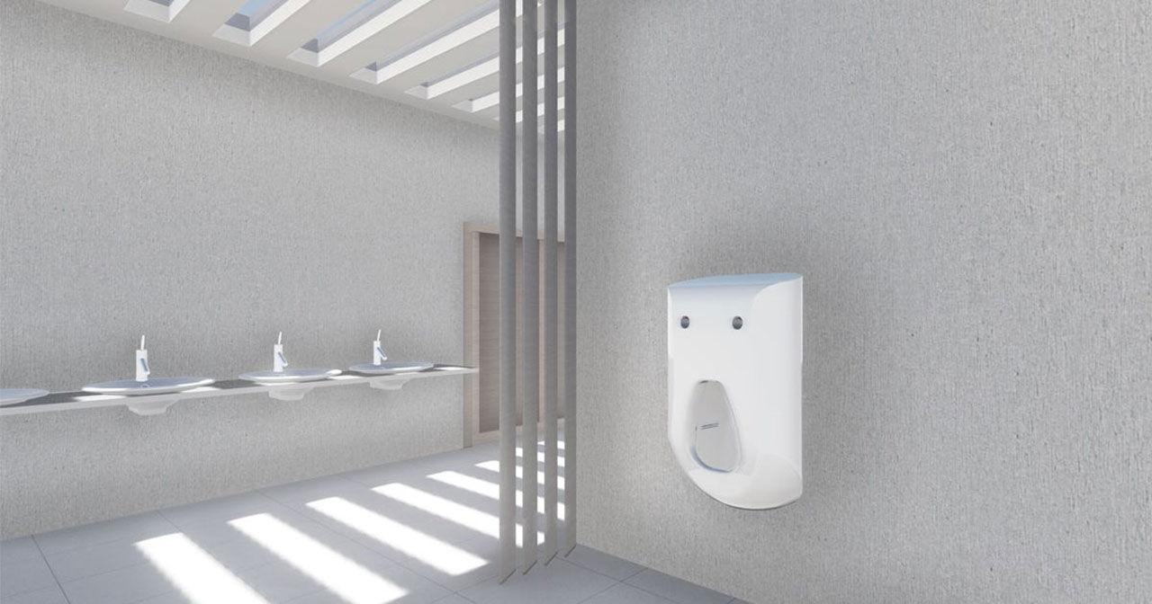 Urinoaren som tvättar snoppen