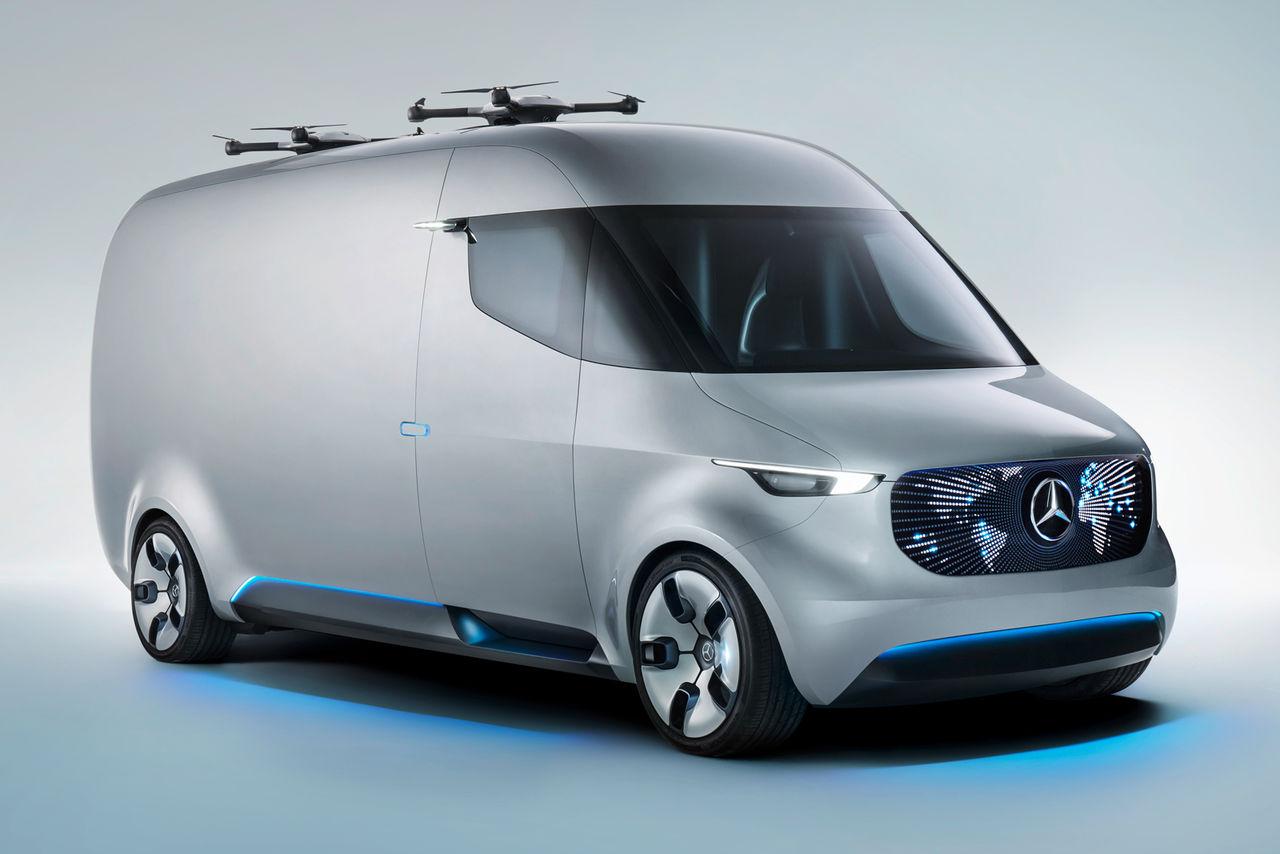 Mercedes Vision Van är ett moderskepp för leveransdrönare