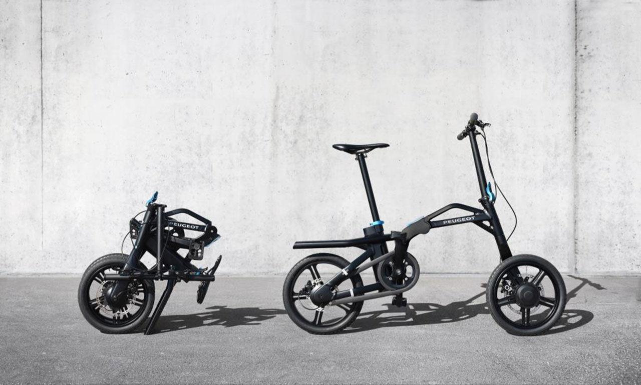 Peugeot visar ihopfällbar elcykel