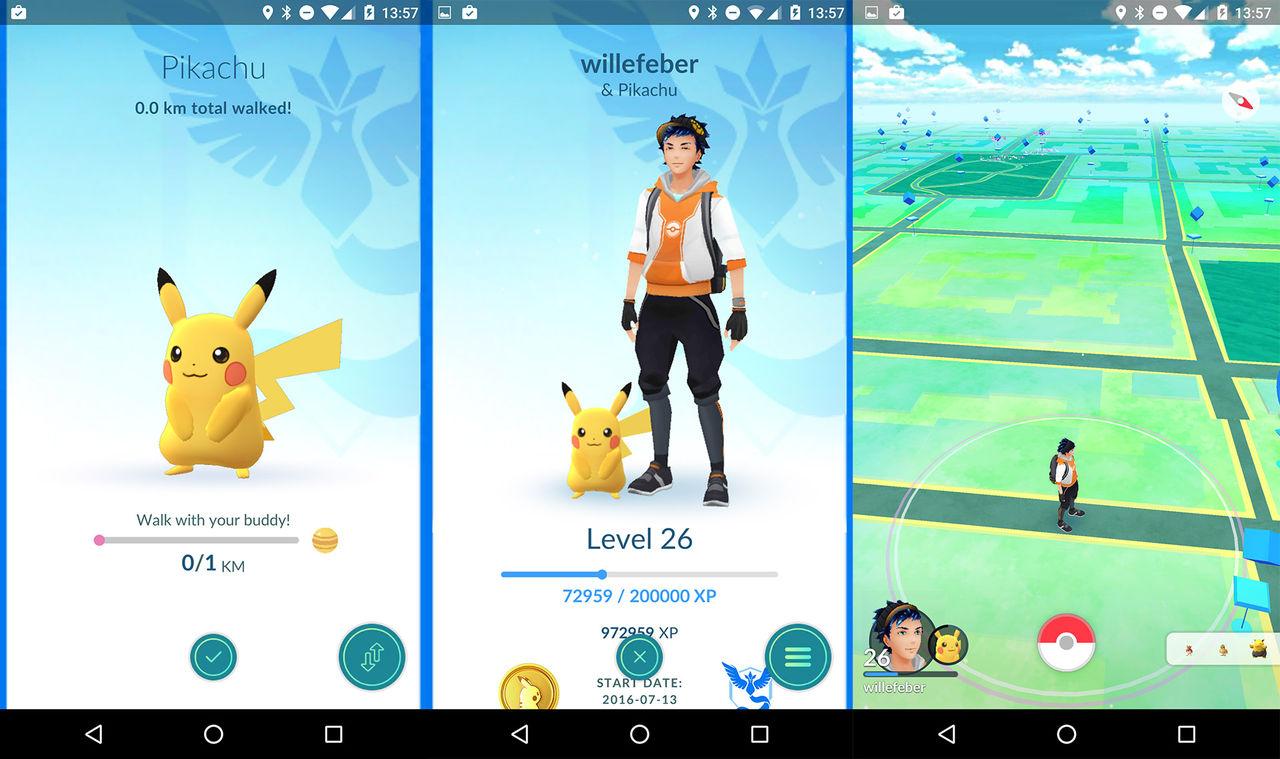 Ny Pokémon Go-uppdatering rullar ut med Buddy-system