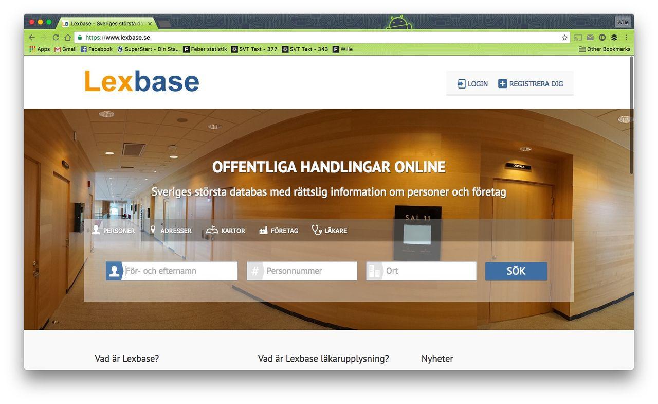 Förslag om att Lexbase inte längre ska skyddas av grundlagen