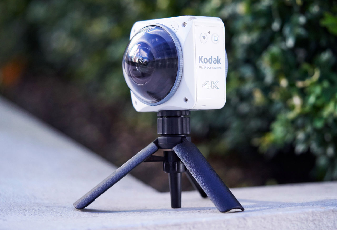 Kodak 4KVR360 är en actionkamera som spelar in 360-video