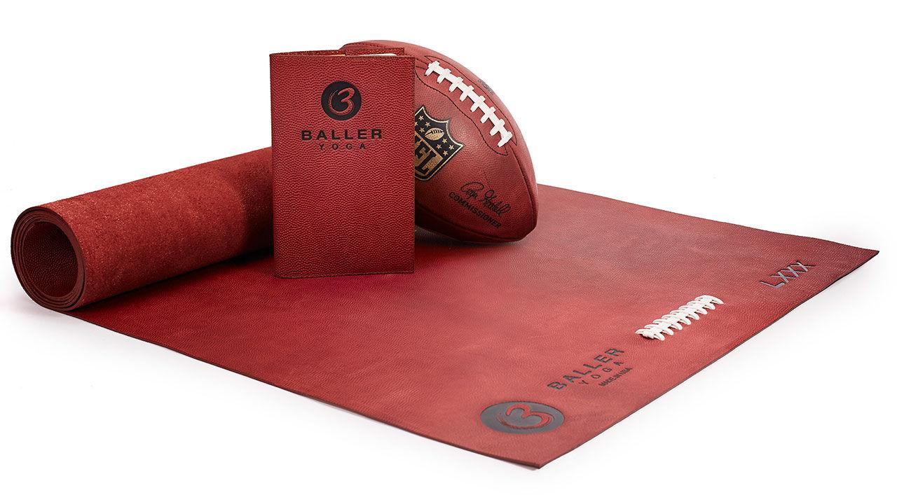 Yogamatta med släktskap till amerikansk fotboll