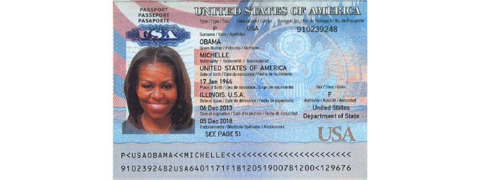 Hackers läcker kopia av Michelle Obamas pass på nätet