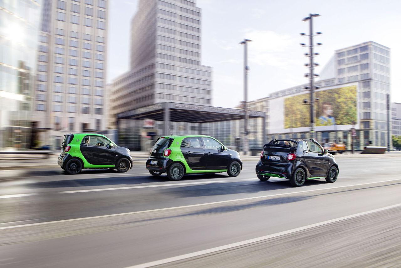 Alla Smarts modeller kommer med eldrift