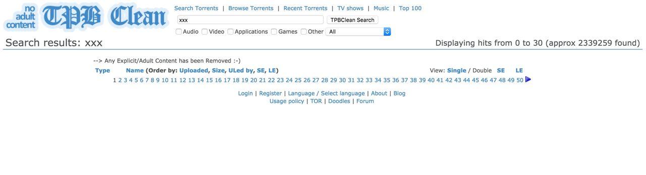 TPBClean är ett Pirate Bay utan snusk