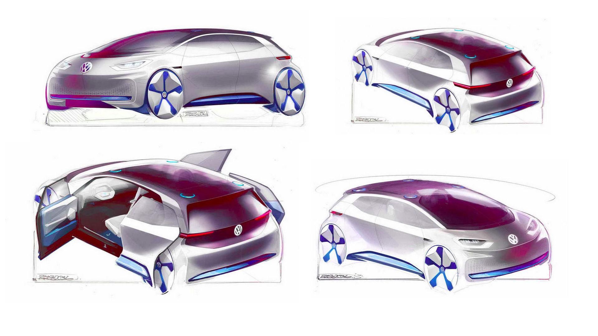 Fler skisser på Volkswagens nya elbilskoncept