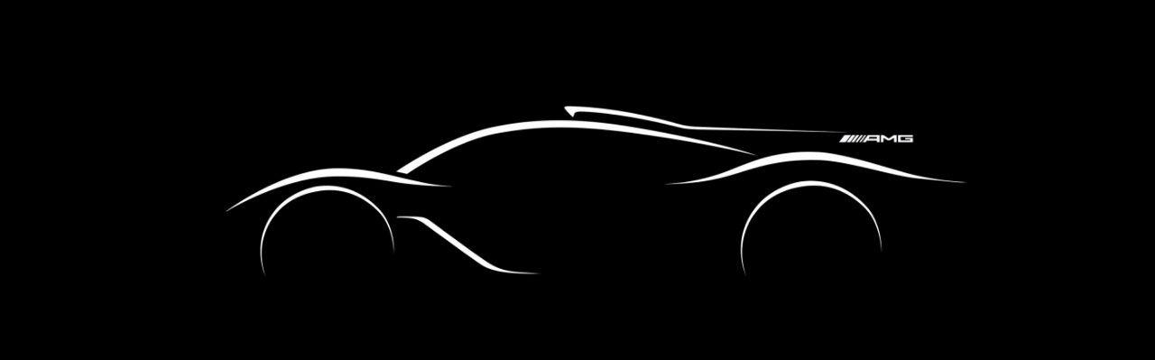 Teaser för hyperbil från Mercedes-AMG