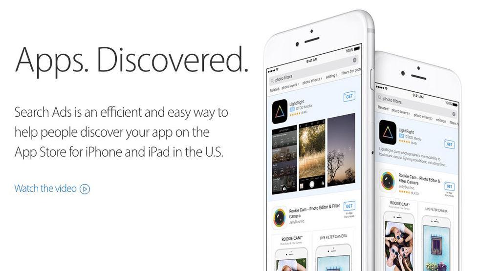 Nu kommer det annonser till App Store