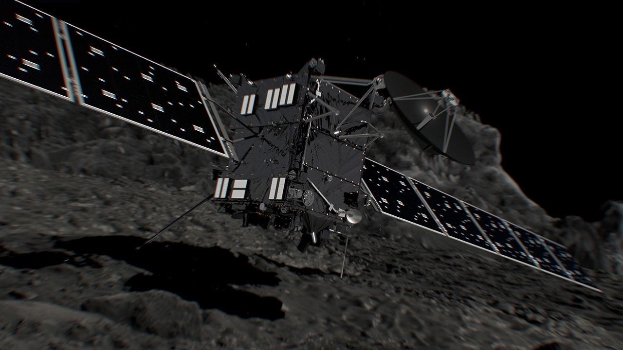 I dag störtar Rosetta