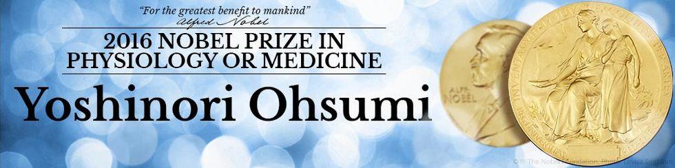 Nobelpriset i medicin går till  Yoshinori Oshumi