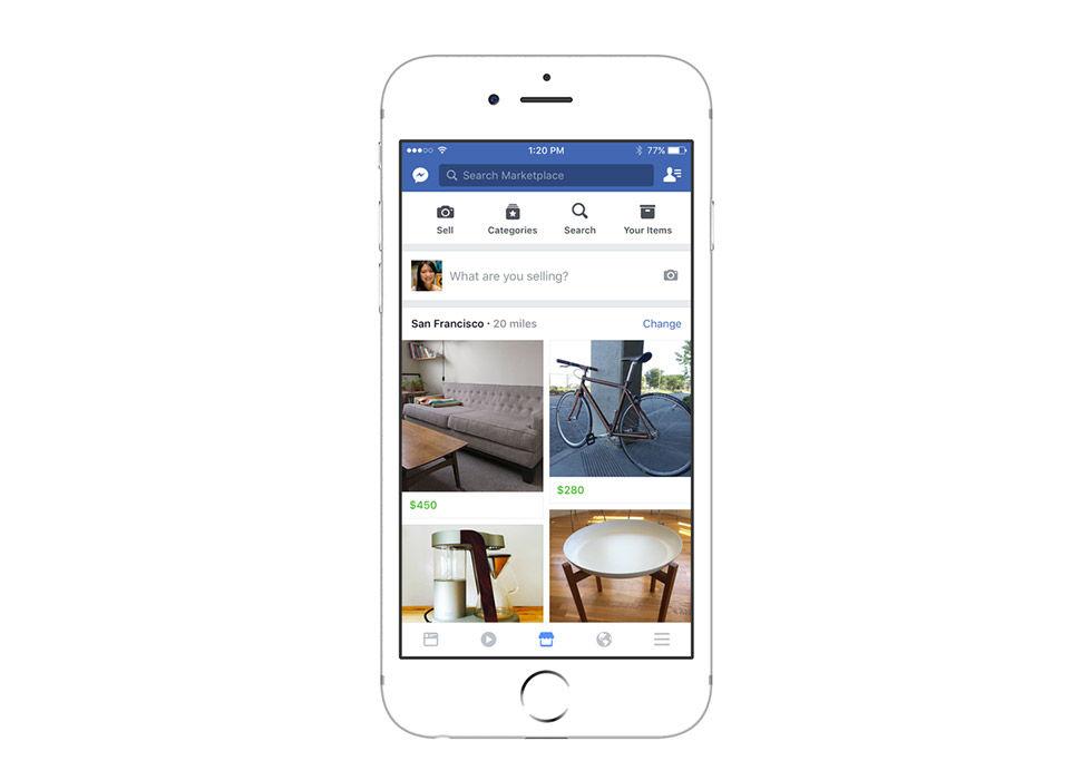 Facebook lanserar Marketplace