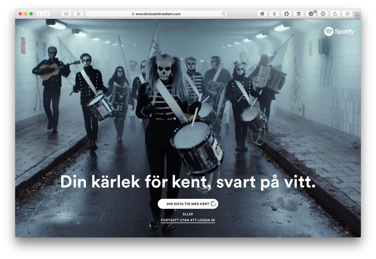 Spotify hedrar Kent med ny tjänst