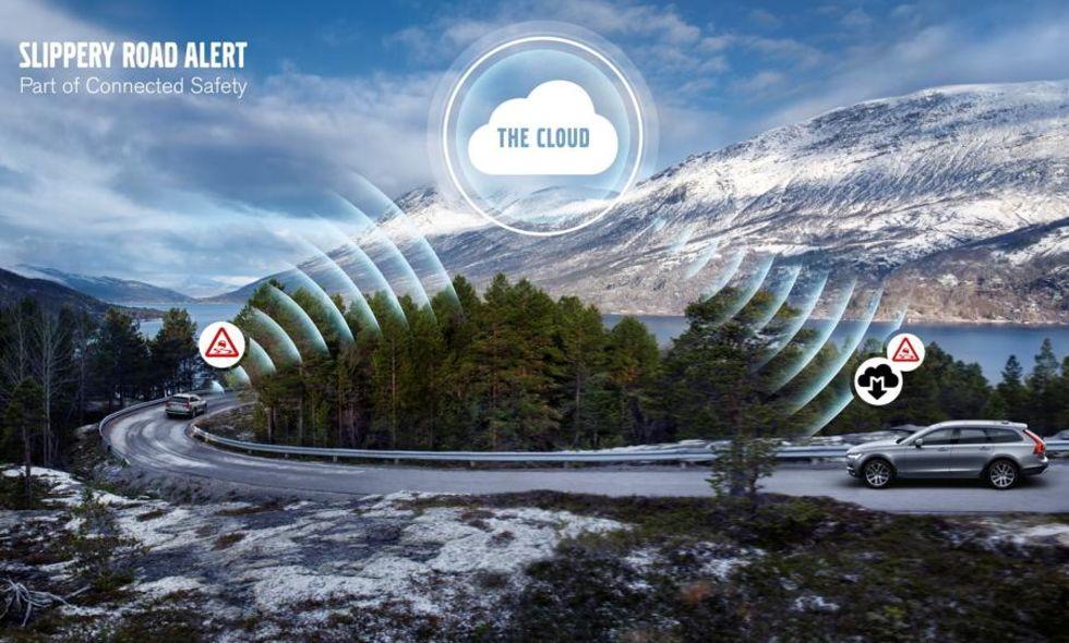 Volvos bilar börjar kommunicera med varandra