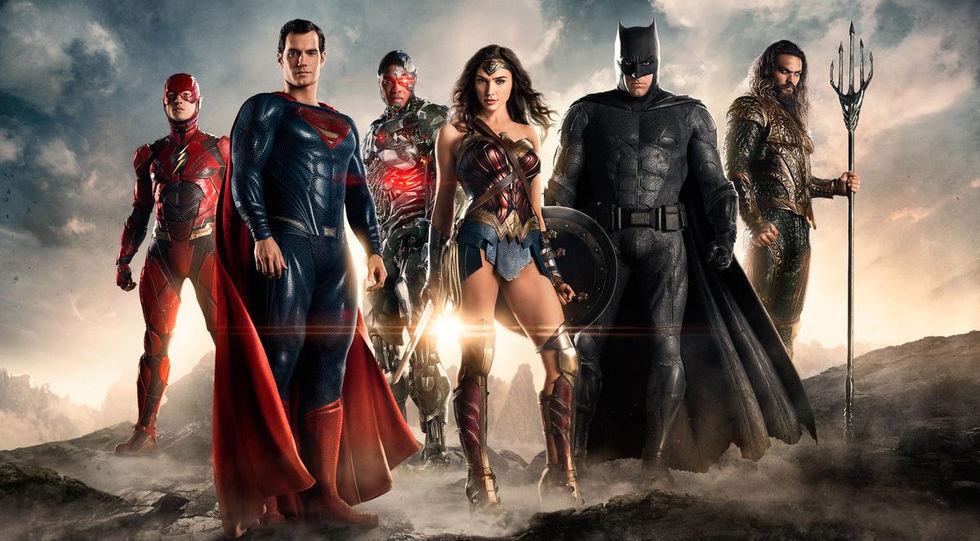 Lite klipp från inspelningen av Justice League