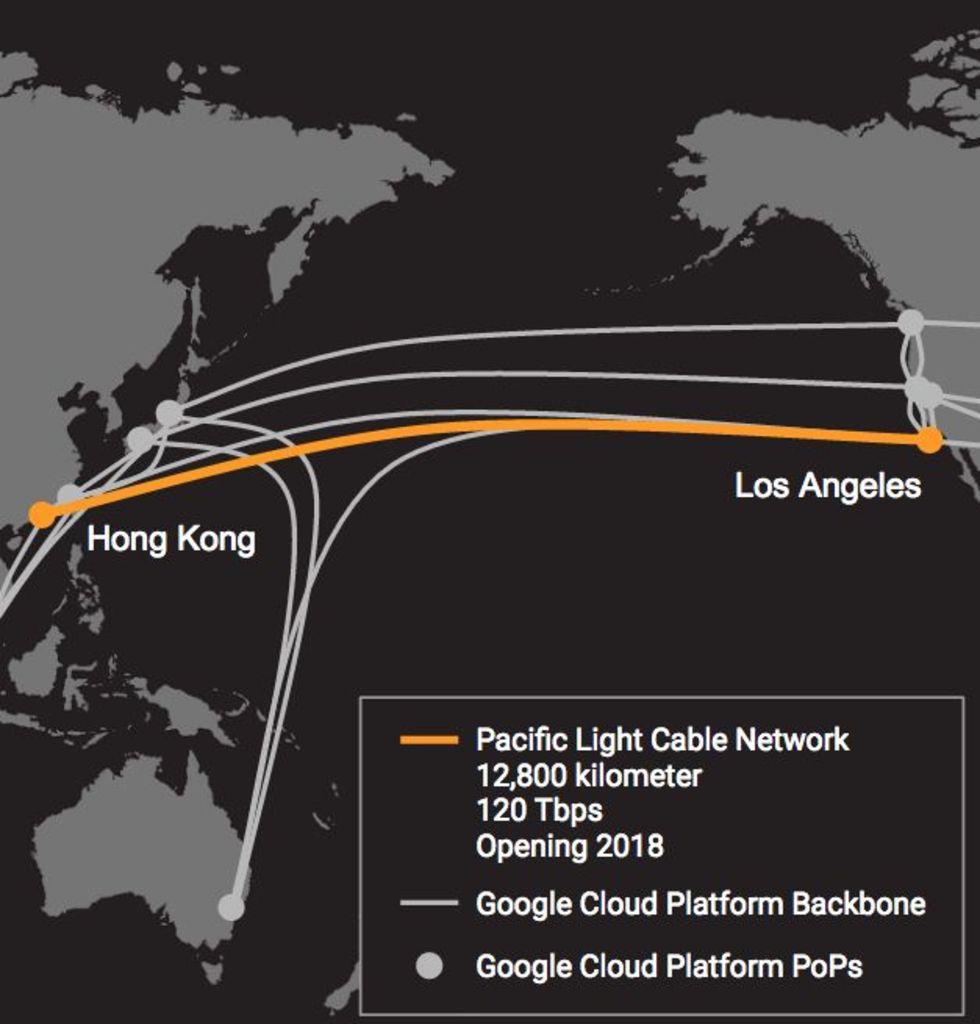 Google och Facebook ska lägga kabel mellan USA och Asien